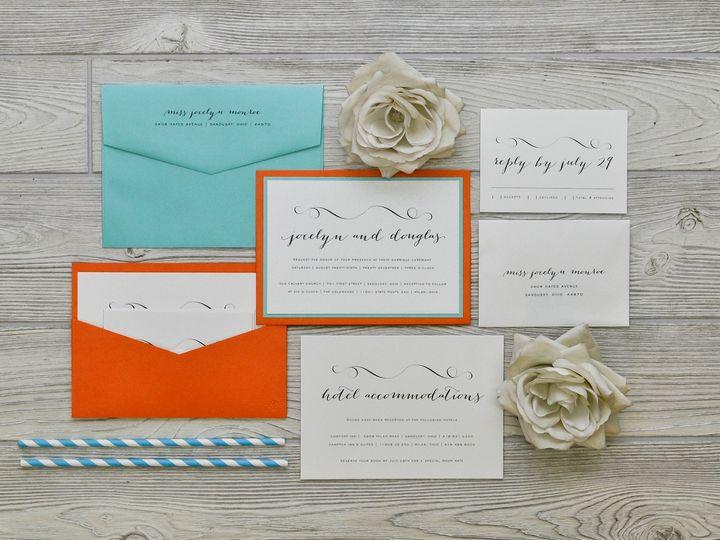 Tmx 1491501828574 The Jocelyn  Douglasmanhattan Collection Sandusky wedding invitation