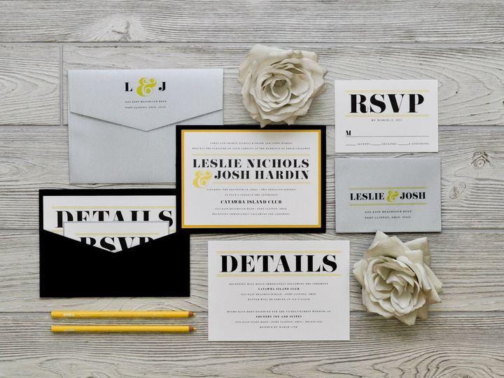 Tmx 1491501845154 The Leslie  Joshmanhattan Collection Sandusky wedding invitation