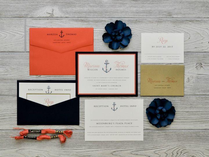 Tmx 1491501860934 The Marissa  Thomasmanhattan Collection Sandusky wedding invitation