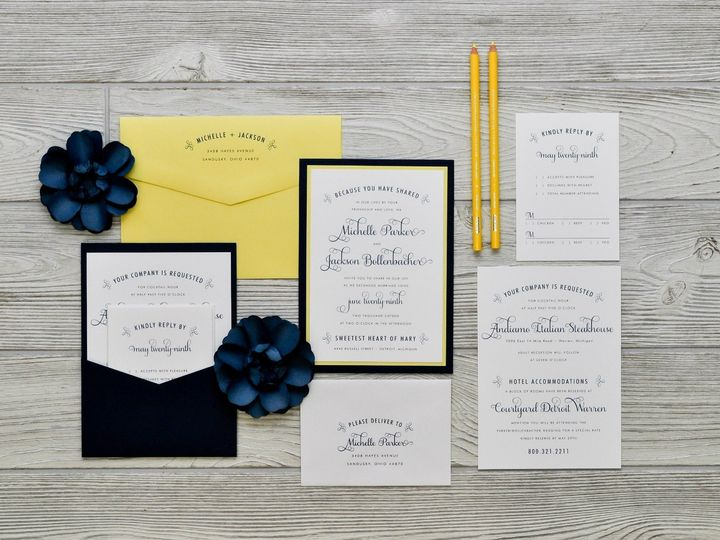 Tmx 1491501876973 The Michelle  Jacksonmanhattan Collection Sandusky wedding invitation