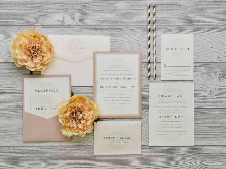 Tmx 1491501892965 The Tanya  Eltonmanhattan Collection Sandusky wedding invitation