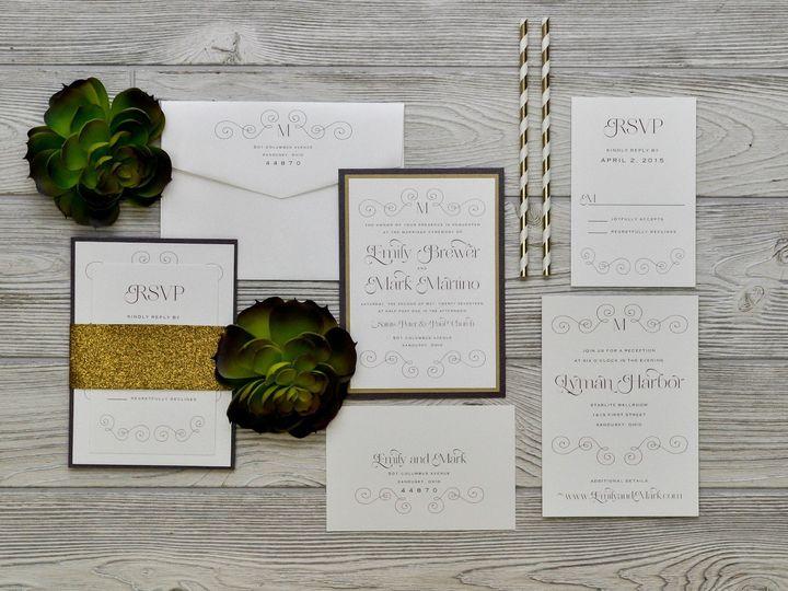 Tmx 1491501945593 The Emily  Markmelrose Collection Sandusky wedding invitation