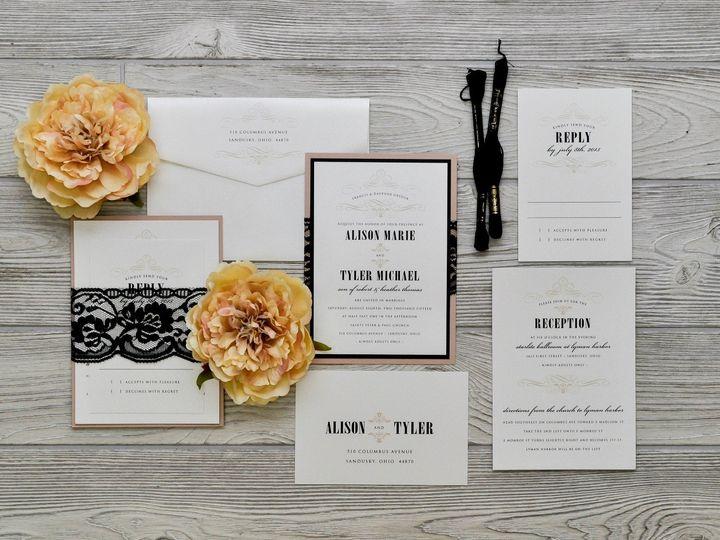 Tmx 1491501947079 The Alison  Tylermelrose Collection Sandusky wedding invitation