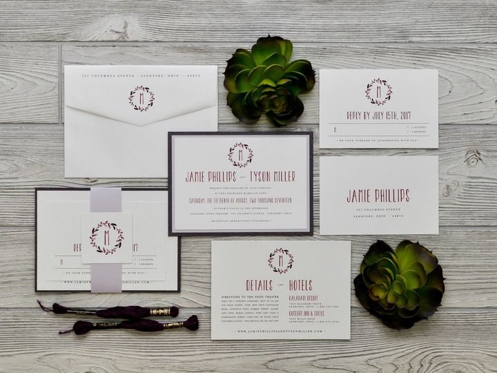 Tmx 1491501966740 The Jamie  Tysonmelrose Collection Sandusky wedding invitation