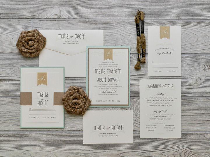 Tmx 1491502032171 The Malia  Geoffmelrose Collection Sandusky wedding invitation