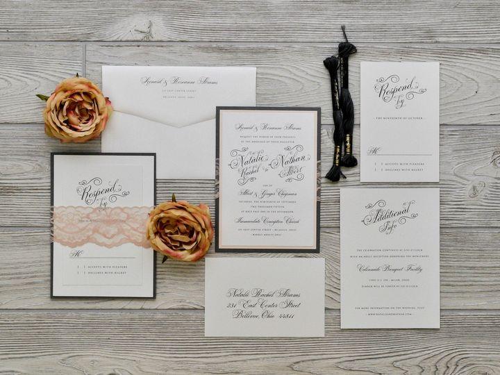 Tmx 1491502066588 The Natalie  Nathanmelrose Collection Sandusky wedding invitation