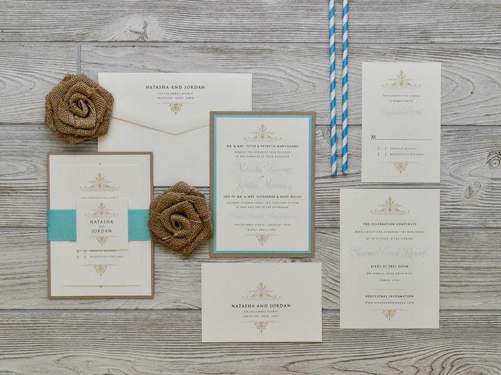 Tmx 1491502083208 The Natasha  Jordanmelrose Collection Sandusky wedding invitation