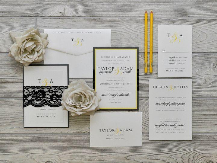 Tmx 1491502118406 The Taylor  Adammelrose Collection Sandusky wedding invitation