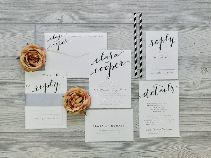Tmx 1491502358199 The Clara  Coopersavannah Collection Sandusky wedding invitation