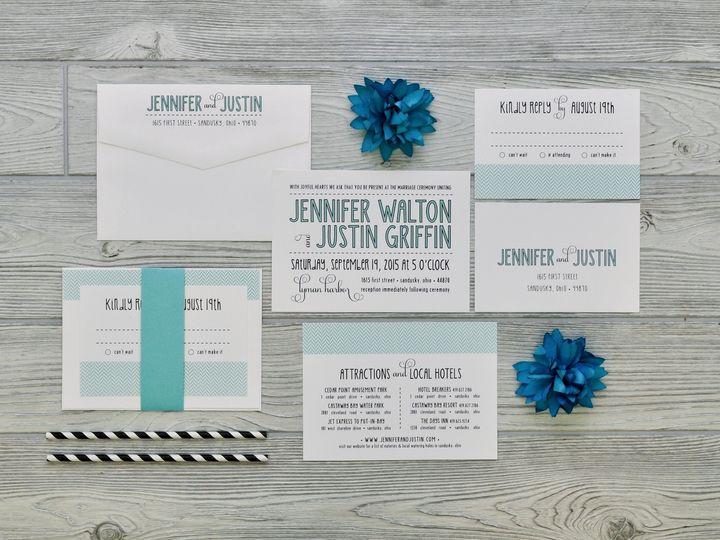 Tmx 1491502374597 The Jennifer  Justinsavannah Collection Sandusky wedding invitation