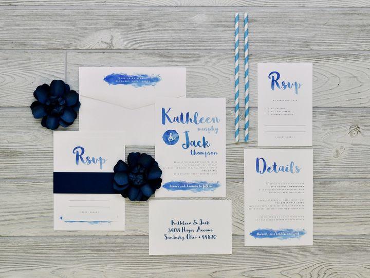 Tmx 1491502390576 The Kathleen  Jacksavannah Collection Sandusky wedding invitation