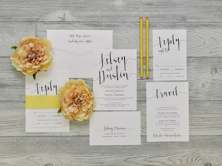 Tmx 1491502406350 The Kelsey  Dustinsavannah Collection Sandusky wedding invitation