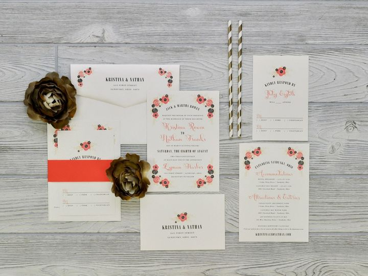 Tmx 1491502421328 The Kristina  Nathansavannah Collection Sandusky wedding invitation