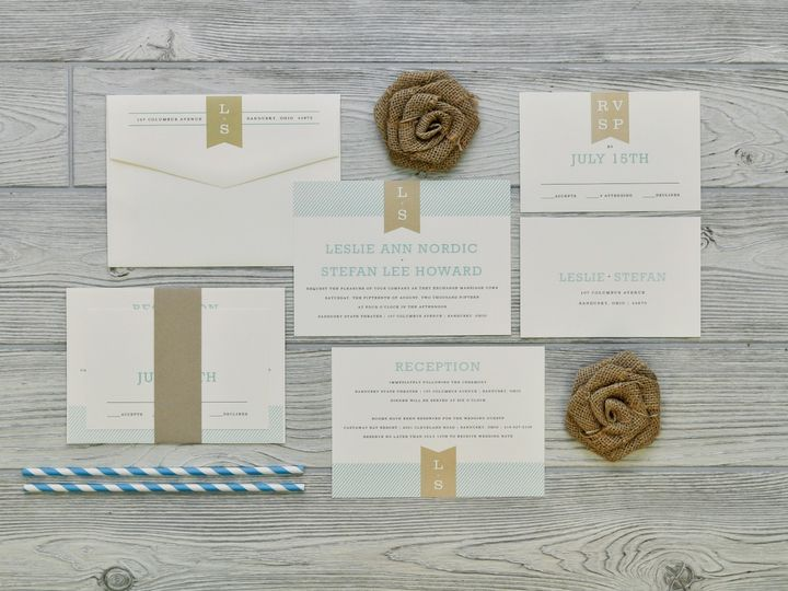 Tmx 1491502436360 The Leslie  Stefansavannah Collection Sandusky wedding invitation