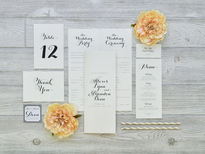 Tmx 1491502882575 The Alexis  Brandon Stationery Collection Sandusky wedding invitation