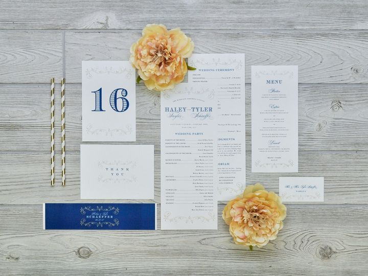 Tmx 1491502936772 The Haley  Tyler Stationery Collection Sandusky wedding invitation