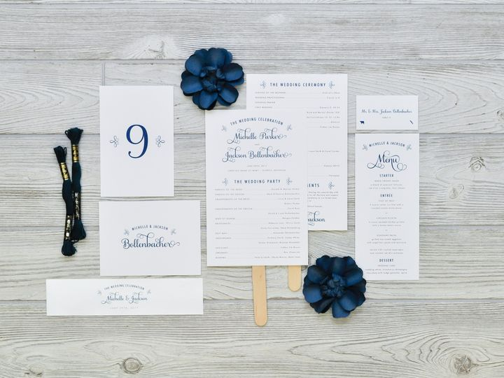 Tmx 1491503003330 The Michelle  Jackson Stationery Collection Sandusky wedding invitation