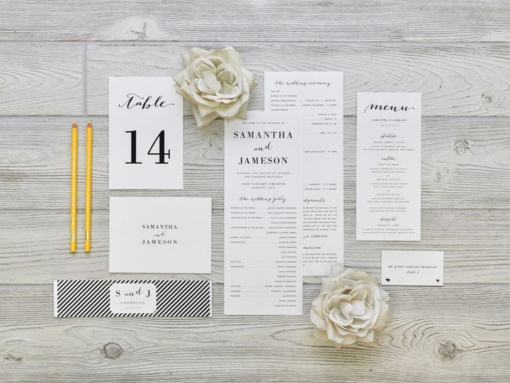 Tmx 1491503019464 The Samantha  Jameson Stationery Collection Sandusky wedding invitation