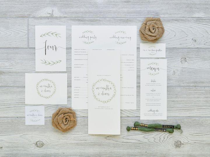 Tmx 1491503036385 The Samantha  Oliver Stationery Collection Sandusky wedding invitation
