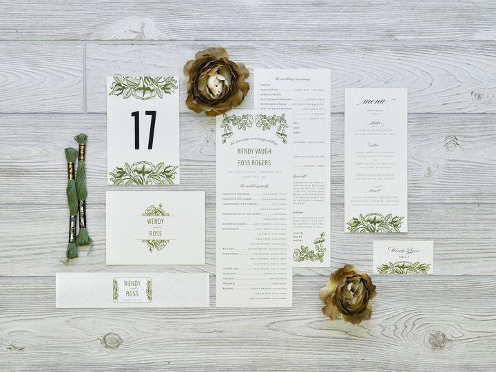 Tmx 1491503052486 The Wendy  Ross Stationery Collection Sandusky wedding invitation