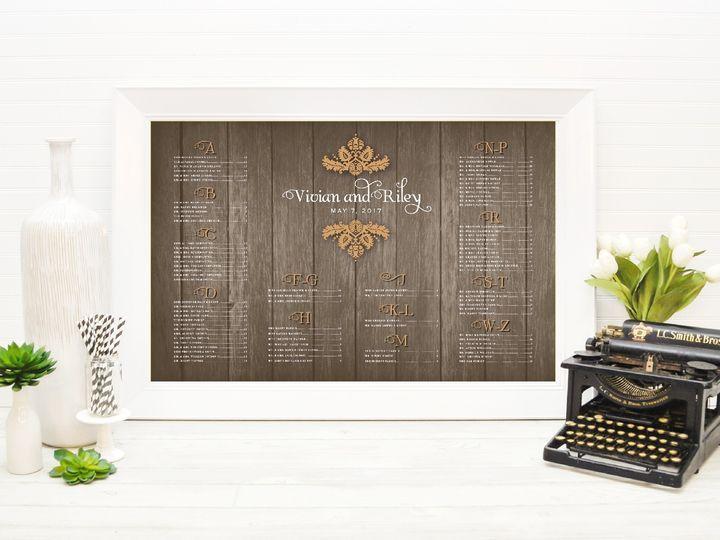 Tmx 1491505773390 The Vivian  Riley Seating Chart Sandusky wedding invitation