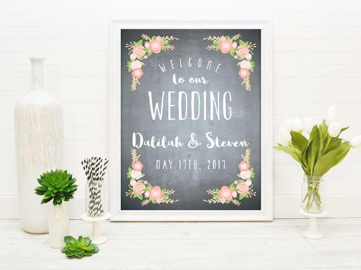 Tmx 1491505993846 The Dalilah  Steven Welcome Sign Sandusky wedding invitation