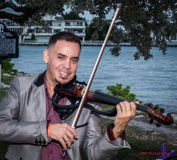 Violin by the lake