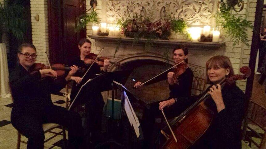 Winter wedding string quartet
