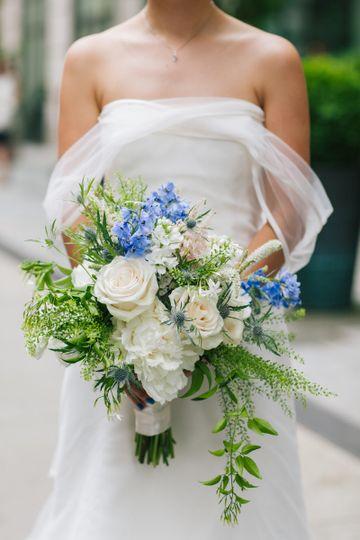 Thebridal bouquet