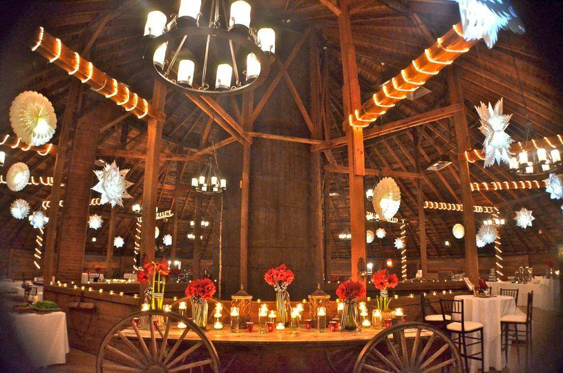 Reception lighting and setup