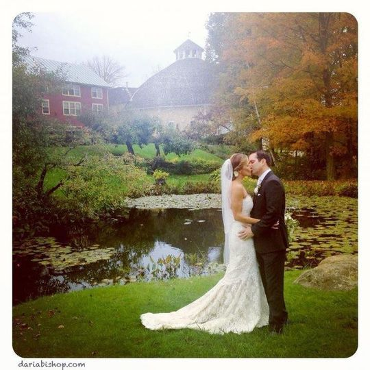 Kiss by the pond