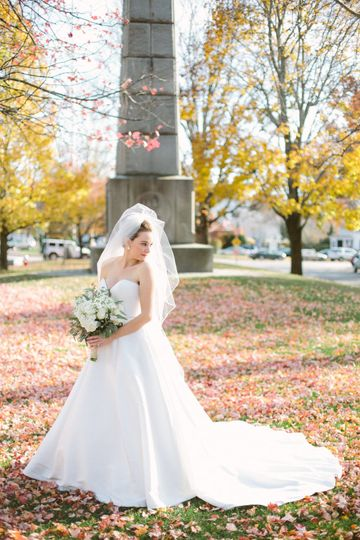Bride in fall