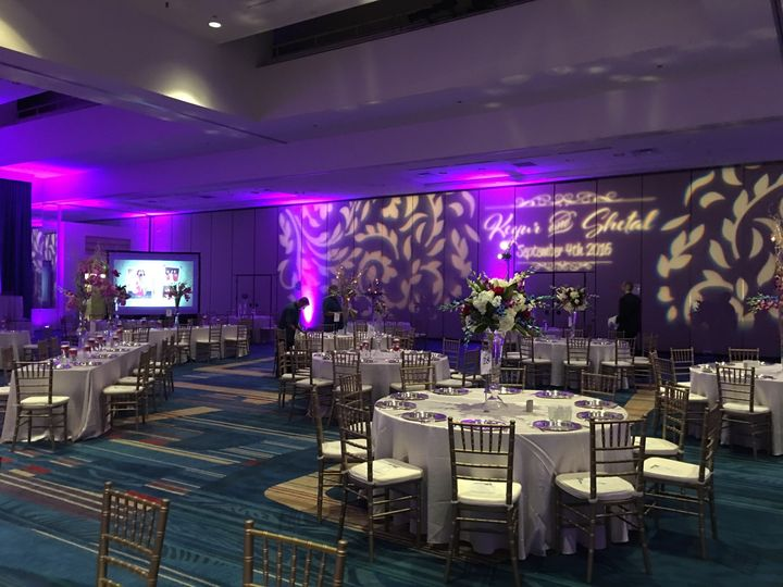 Reception set-up and lighting
