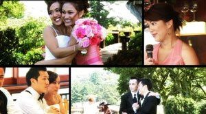 Collage of images from one of our romantic comedy style videos.