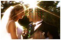 Scene from fairytale romance wedding movie.