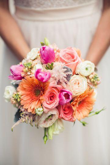 Blush and pink arrangement