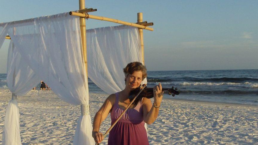 Solo Violin on the Beach