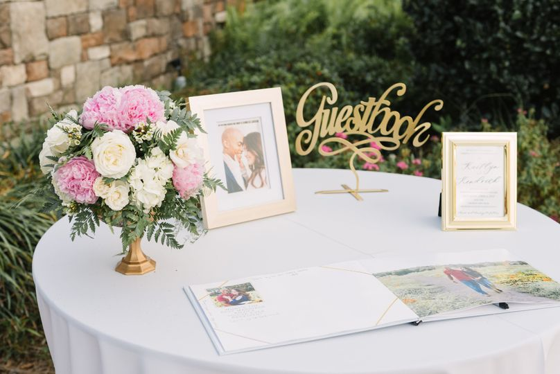 The Terrace --Guest Book Table