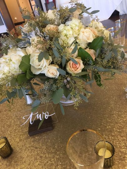 Dainty flower centerpiece