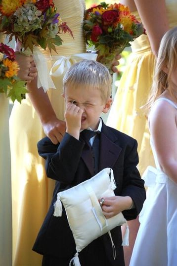 One of my favorite parts about wedding photography - the kids! They are so unpredictable and fun.
