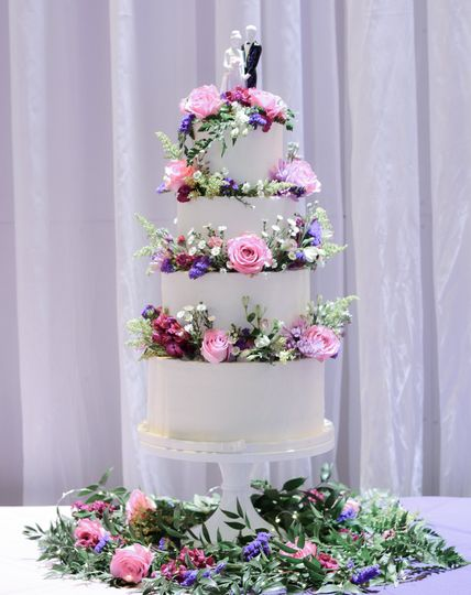 Spring in 4 Tiers of Buttercre