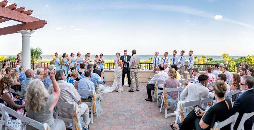 Wedding on the balcony