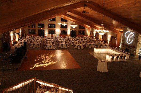 Our custom monograms and uplighting brings out your personal touches!