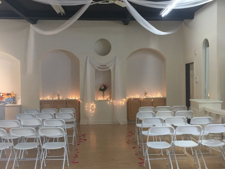Ceremony Option at The Sunshine Event Center (Option for 100-120 guests)