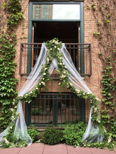 Sheer wedding arch
