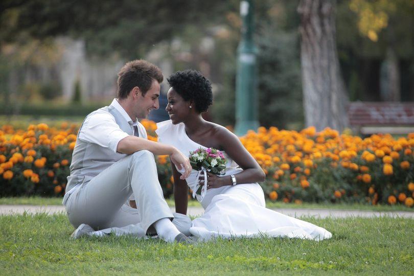 Beautiful couple celebrating their love.