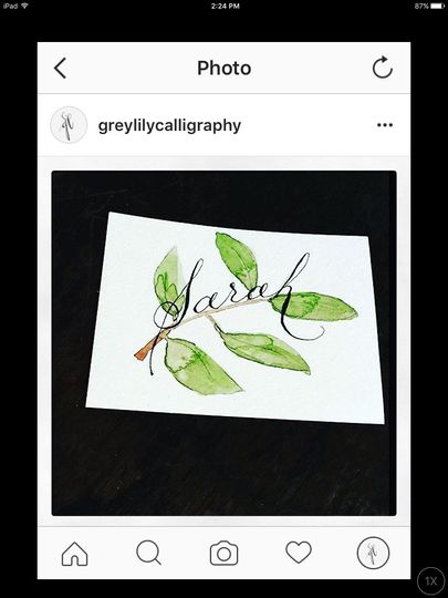 place cards/ escort cards
