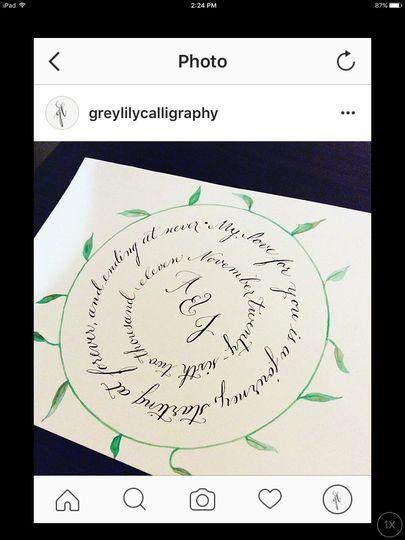 custom art/ vows