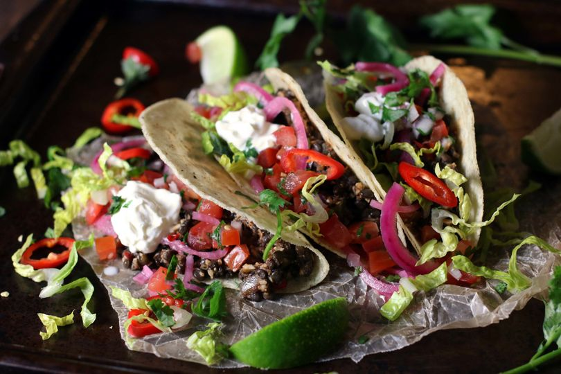 Lentil tacos for those that want a taco station but maybe not all meat.