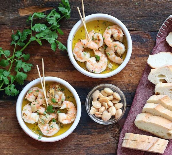 Gambas al Ajillo / part of our family dinner with tapas
